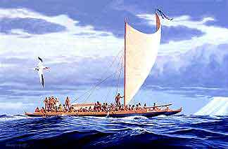 Hawaiian double canoe - click for more